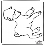 Animals coloring pages - Little sheep 1
