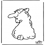 Animals coloring pages - Little sheep 2
