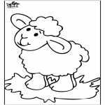 Animals coloring pages - Little sheep 4