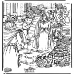 Bible coloring pages - Look for 15 jars, Sheba