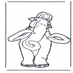 Animals coloring pages - Mammoth