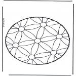 Crafts pricking cards - Mandala 1