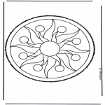 Crafts pricking cards - Mandala 2