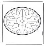 Crafts pricking cards - Mandala 25