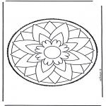 Crafts pricking cards - Mandala 3