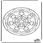 Mandala Coloring Pages - Mandala 36