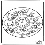 Mandala Coloring Pages - Mandala animals 1