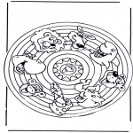 Mandala Coloring Pages - Mandala animals 2