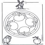 Mandala Coloring Pages - Mandala apple