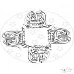 Mandala Coloring Pages - Mandala baby Jesus