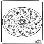 Mandala Coloring Pages - Mandala birds