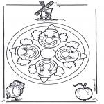 Mandala Coloring Pages - Mandala clown