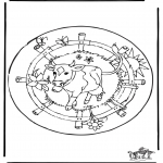 Mandala coloring pages - Mandala cow