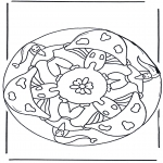 Mandala Coloring Pages - Mandala dwarf