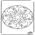 Mandala Coloring Pages - Mandala elephant