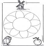 Mandala Coloring Pages - Mandala flowers 1