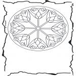 Mandala Coloring Pages - Mandala flowers 3