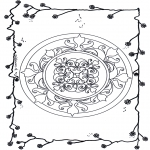 Mandala Coloring Pages - Mandala flowers 6
