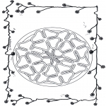 Mandala Coloring Pages - Mandala four clover leaved