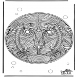 Mandala Coloring Pages - Mandala Lion