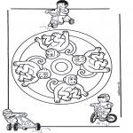 Mandala Coloring Pages - Mandala monkey