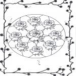 Mandala Coloring Pages - Mandala of roses