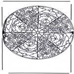 Mandala Coloring Pages - Mandala santa claus