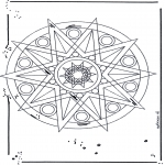 Mandala Coloring Pages - Mandala star 1