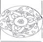 Mandala with mushroom 2