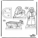 Christmas coloring pages - Manger part 1