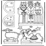 Christmas coloring pages - Manger part 2
