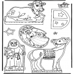 Christmas coloring pages - Manger part 3