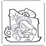 Bible coloring pages - Maria and Jesus
