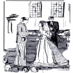 Theme coloring pages - Marriage in church
