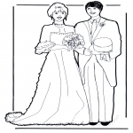 Theme coloring pages - Marriage