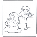 Bible coloring pages - Martha and Mary