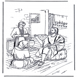 Bible coloring pages - Mary and Martha 2