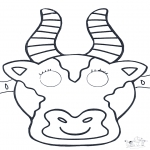 Crafts - Mask Cow 1