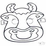 Crafts - Mask Cow 2