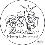 Christmas coloring pages - Merry X-mas 1