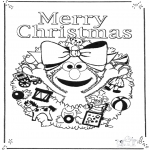 Christmas coloring pages - Merry x-mas 2
