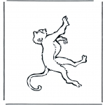 animals coloring pages - Monkey 1