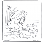 Bible coloring pages - Moses and his mother