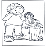 Kids coloring pages - Mother and children 2