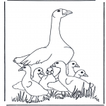 Animals coloring pages - Mother goose