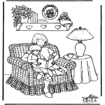 Theme coloring pages - Mother's Day 3