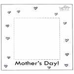 Theme coloring pages - Mothers day fotoframe