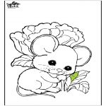 Animals coloring pages - Mouse 1