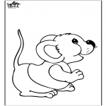 Animals coloring pages - Mouse 2