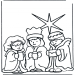 Christmas coloring pages - Nativity story 10